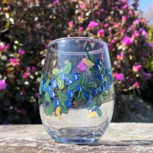 Blueberry, Mini, Wine Glass.