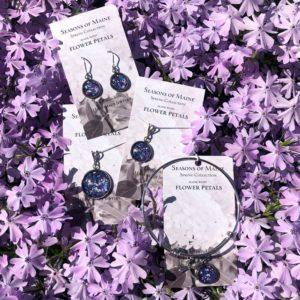 Iris & Delphinium Flower Petal Jewelry