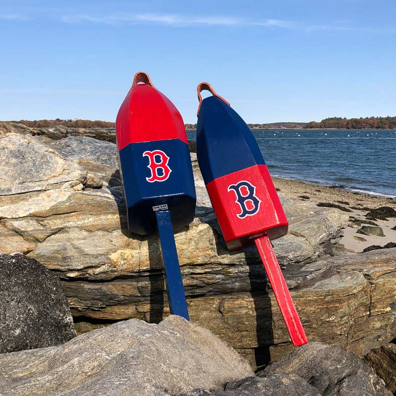Large Red Sox Buoy with Leather