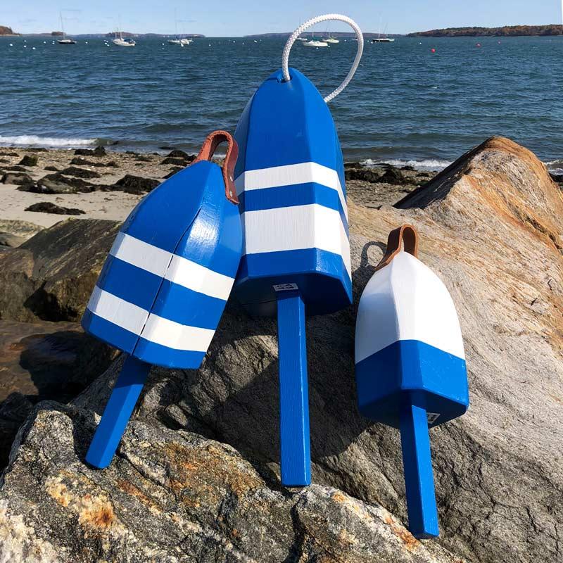 Blue & White Lobster Buoys