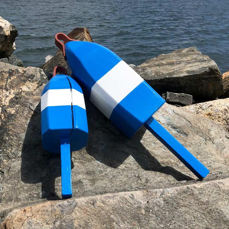 Blue & White Buoys.