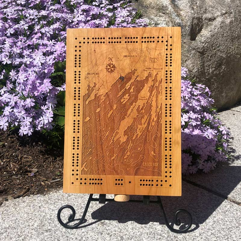 Freeport & Harpswell Cribbage Board.