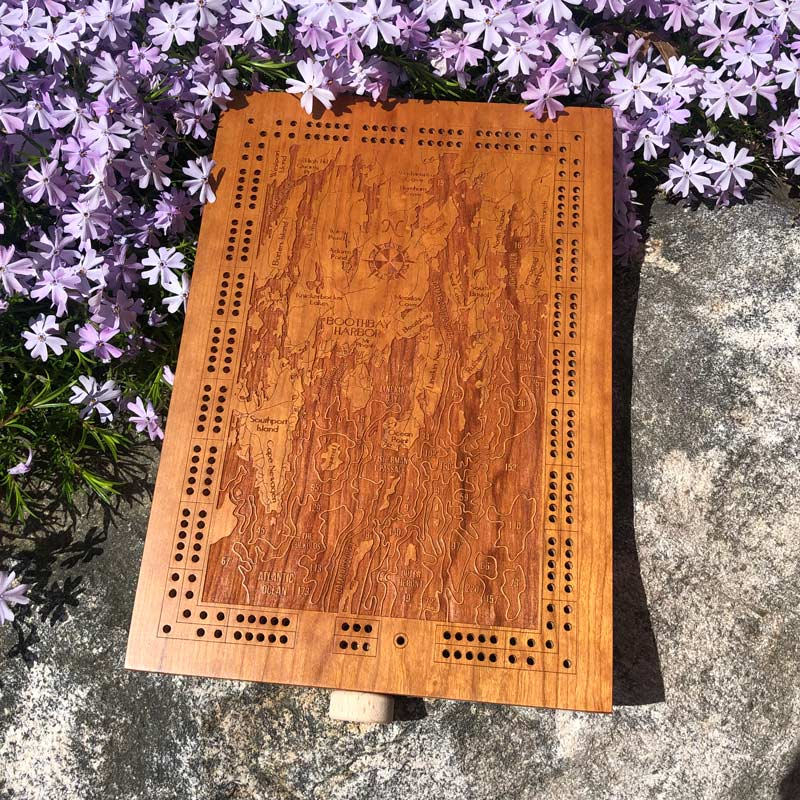 Boothbay Harbor & Southport Cribbage Board