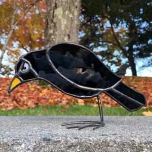 Stained Glass Blackbird