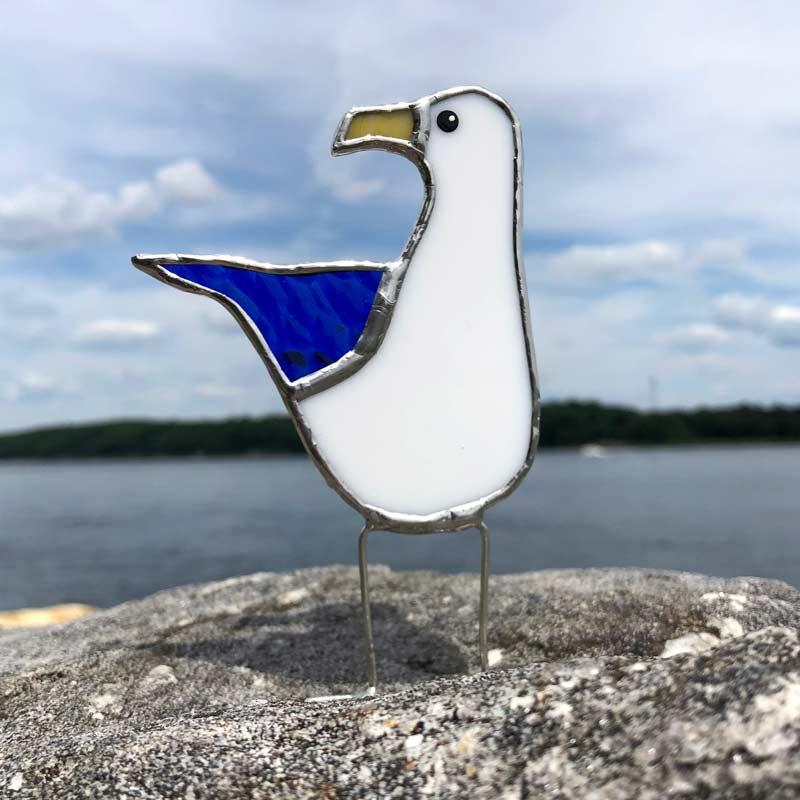 Colored Wing Sea Gull - Blue