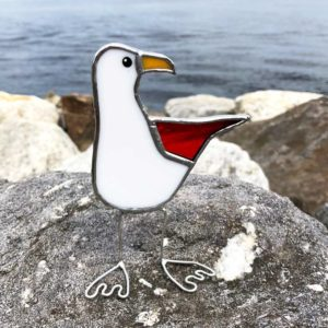 Colored Wing Sea Gull - Red