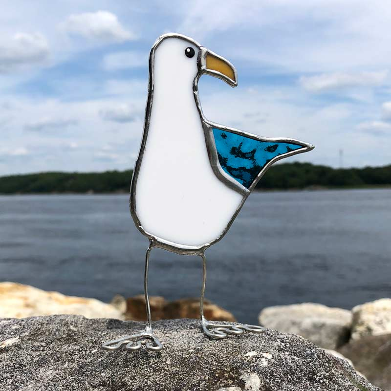 Colored Wing Sea Gull - Teal