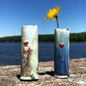 Heart Bud Vase