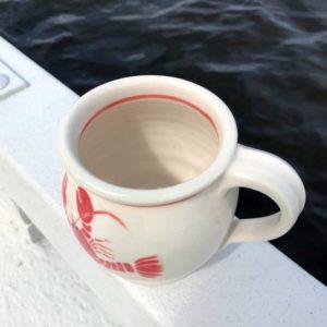 Lobster Mug with Red Trim