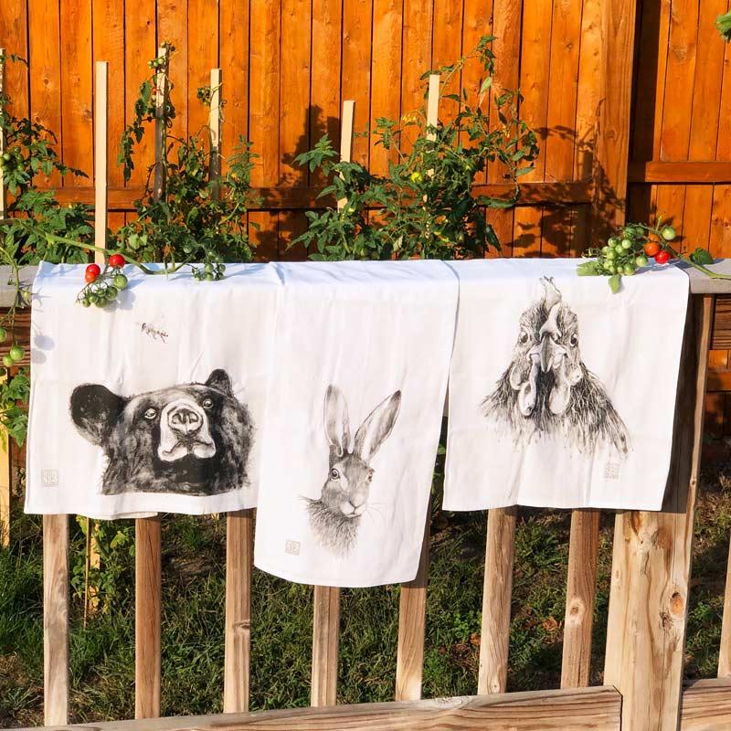 Forest Animal Tea Towel