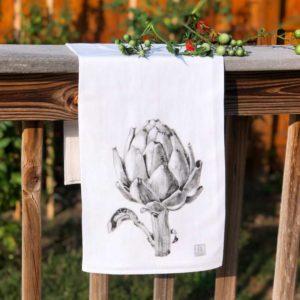 Vegetable Tea Towel - Artichoke