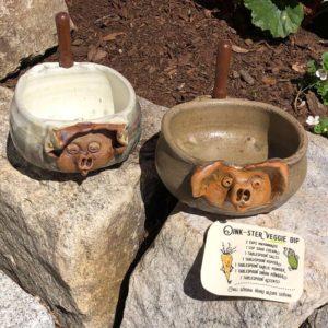 Pig Dip Dish by Westport Island Pottery