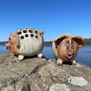 Piggy Organizer by Westport Island Pottery