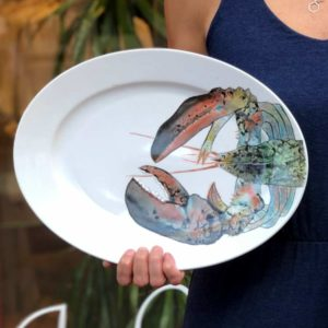 Hand Painted Lobster Pottery