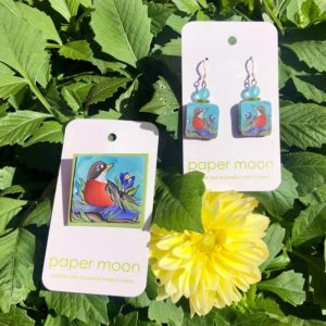 Paper Moon Jewelry made from Polymer Clay - Robin
