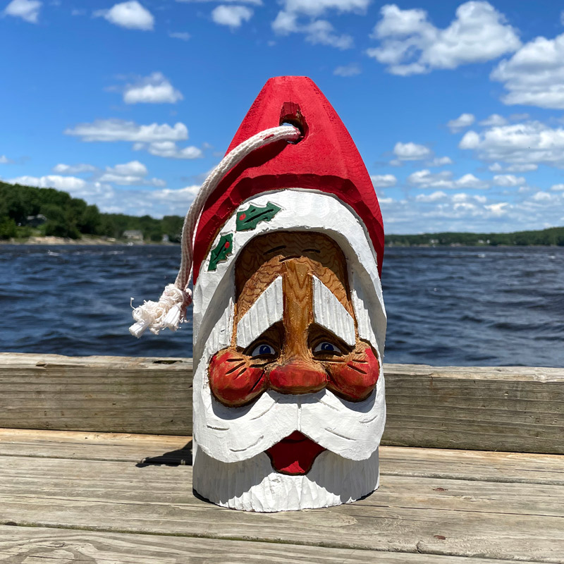 Hand Carved Santa Buoy #6