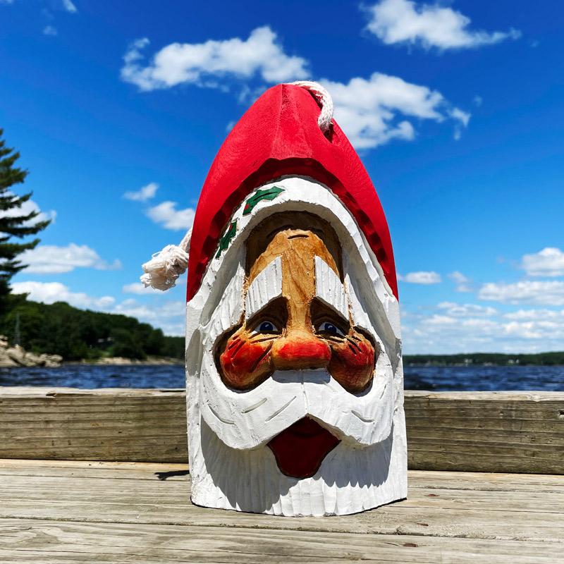 Hand Carved Santa Buoy #3