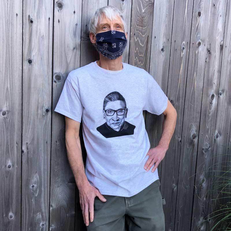 Ruth Bader Ginsburg T-Shirt - Light Heather Grey