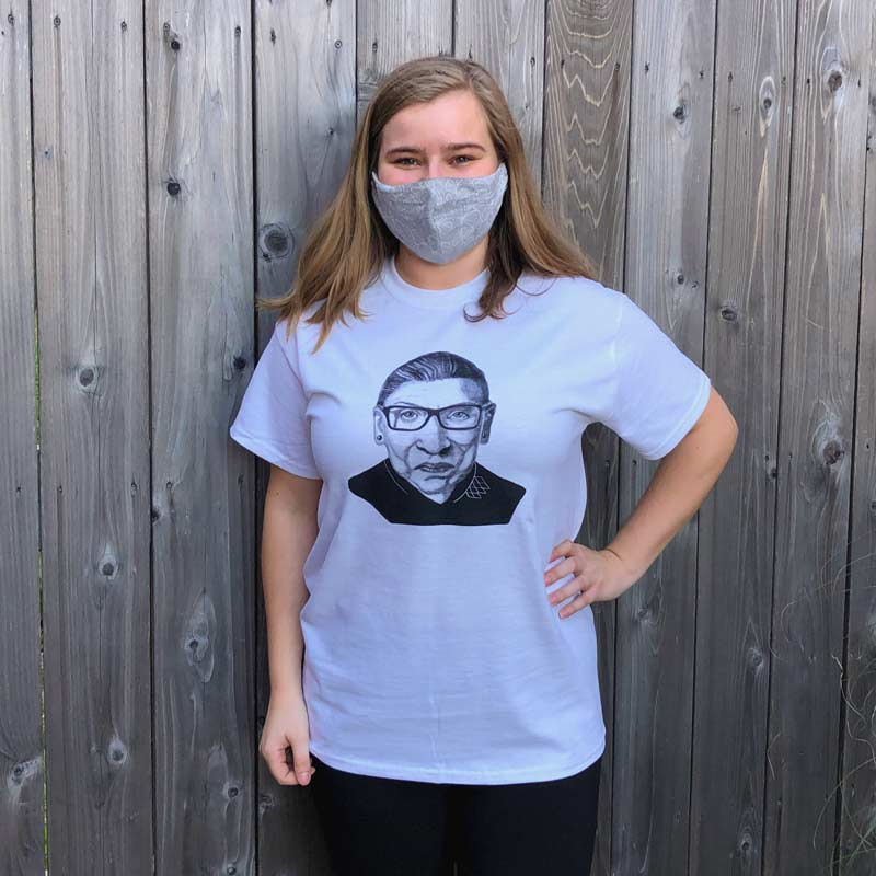 Ruth Bader Ginsburg T-Shirt - White
