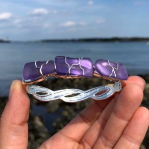 Purple Sea Glass Bracelet