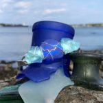 Light Aqua & Blue Sea Glass Bracelet