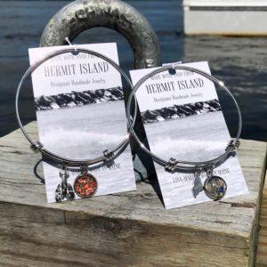Hermit Island Beach Sand Bangle Bracelet