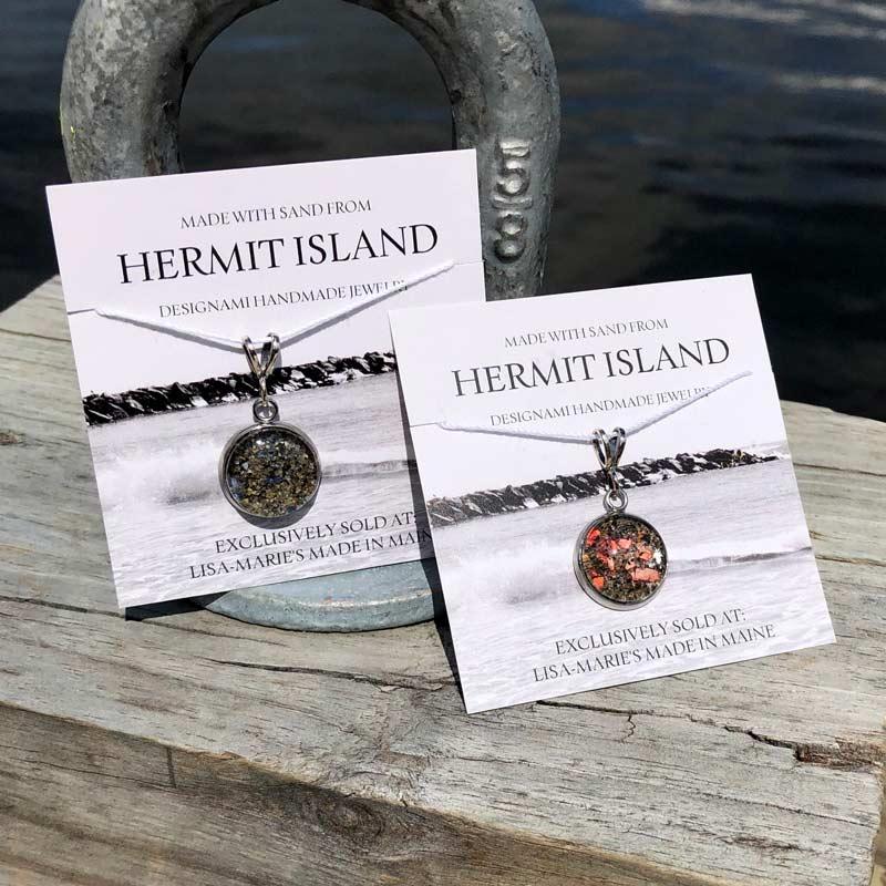 Hermit Island Beach Sand Pendant