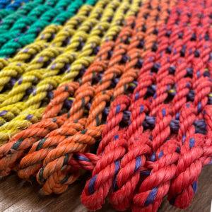 Rainbow Lobster Rope Doormat
