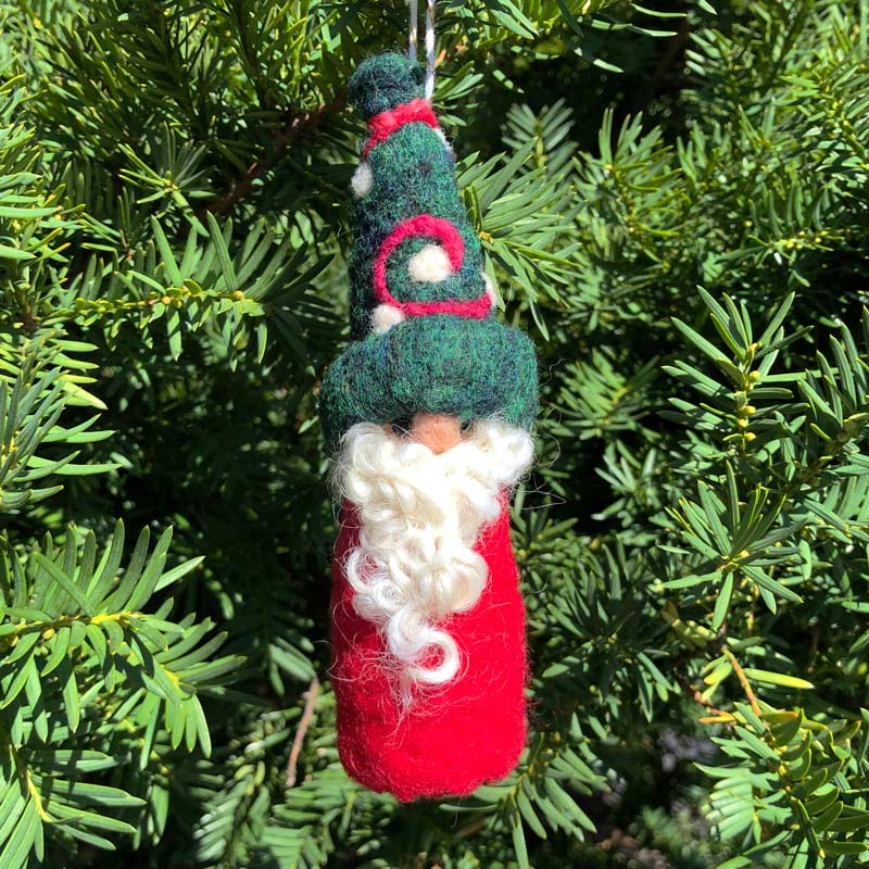 Felted Gnome Ornament - Herman