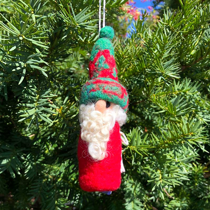 Felted Gnome Ornament - Archie