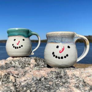Snowman Mug by Westport Island Pottery