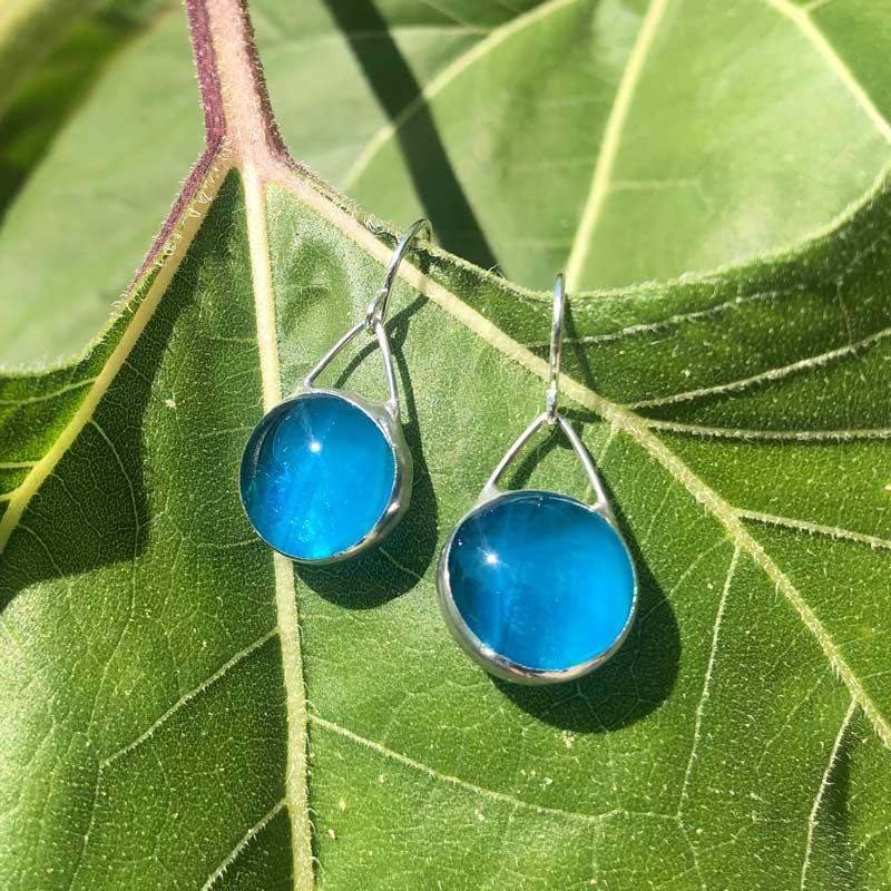 Azure Glass Earrings