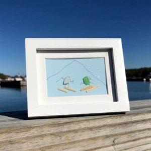 Sea Glass Skier Frames
