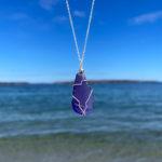 Purple Sea Glass Necklace