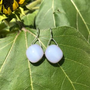 Orchid Glass Earrings