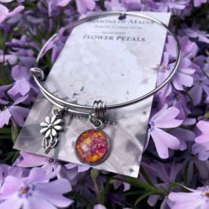 Rhododendron, Daffodil & Lily Flower Petal Bracelet