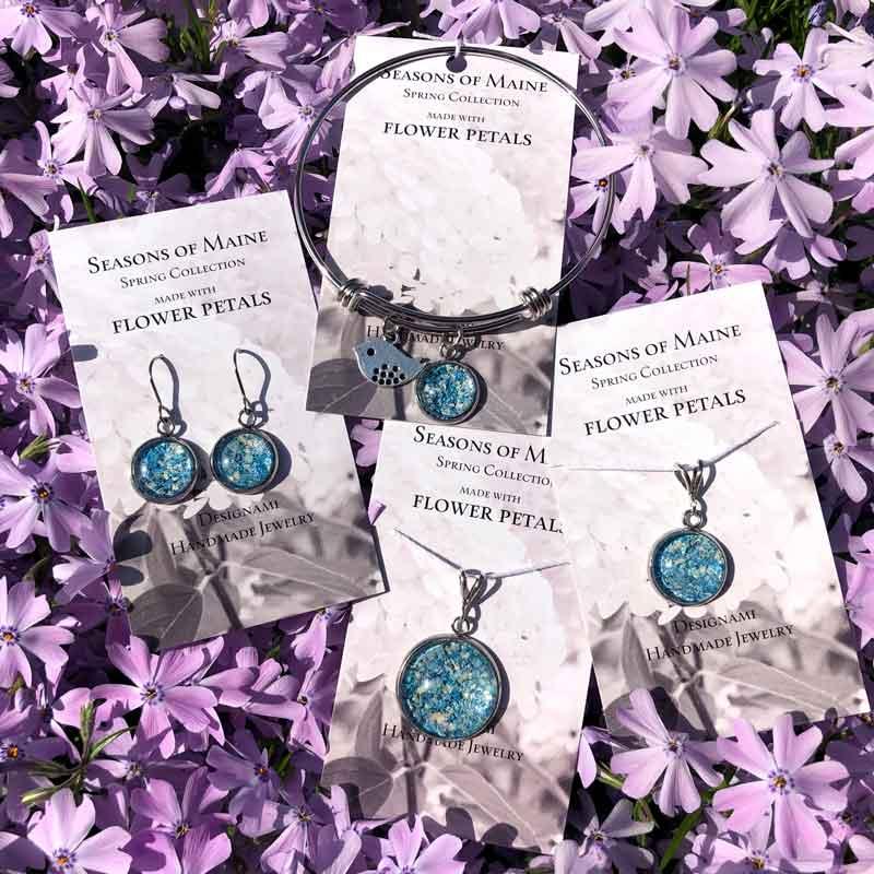 Hydrangea & Peony Flower Petal Jewelry