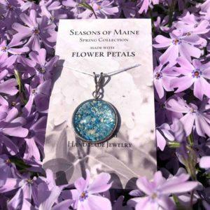 Hydrangea & Peony Flower Petal Large Pendant