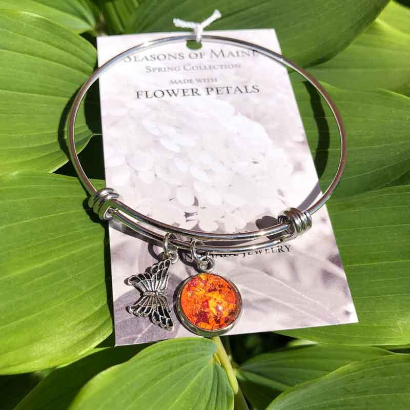 Rose, Lily & Daffodil Flower Petal Bracelet