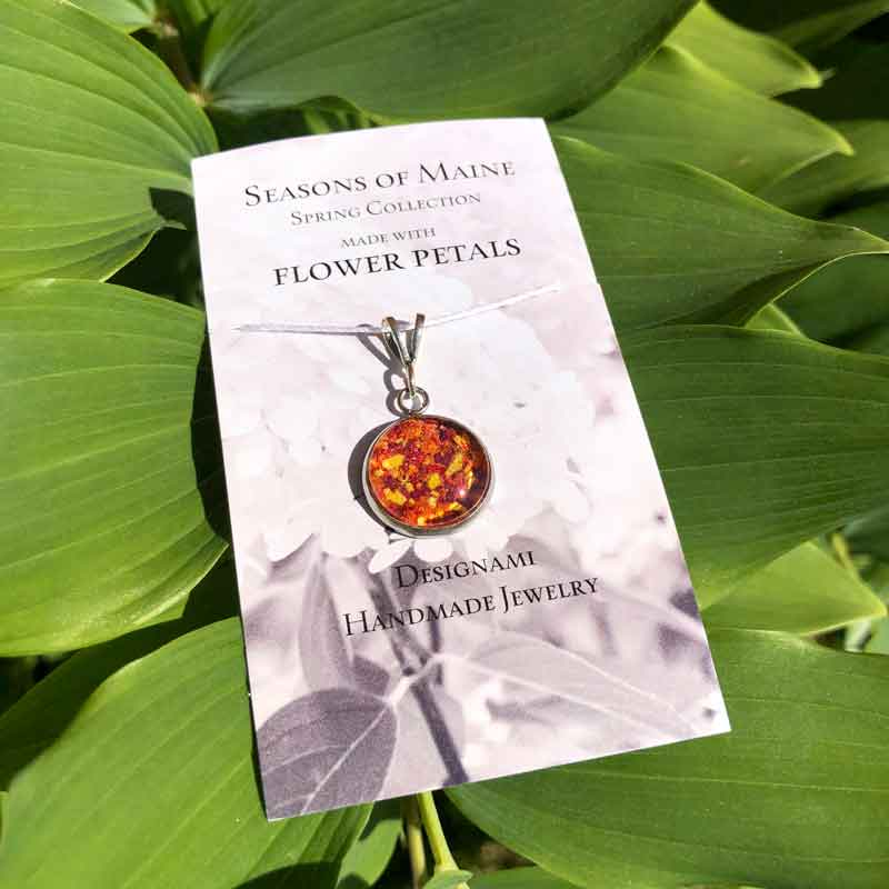 Rose, Lily & Daffodil Flower Petal Small Pendant