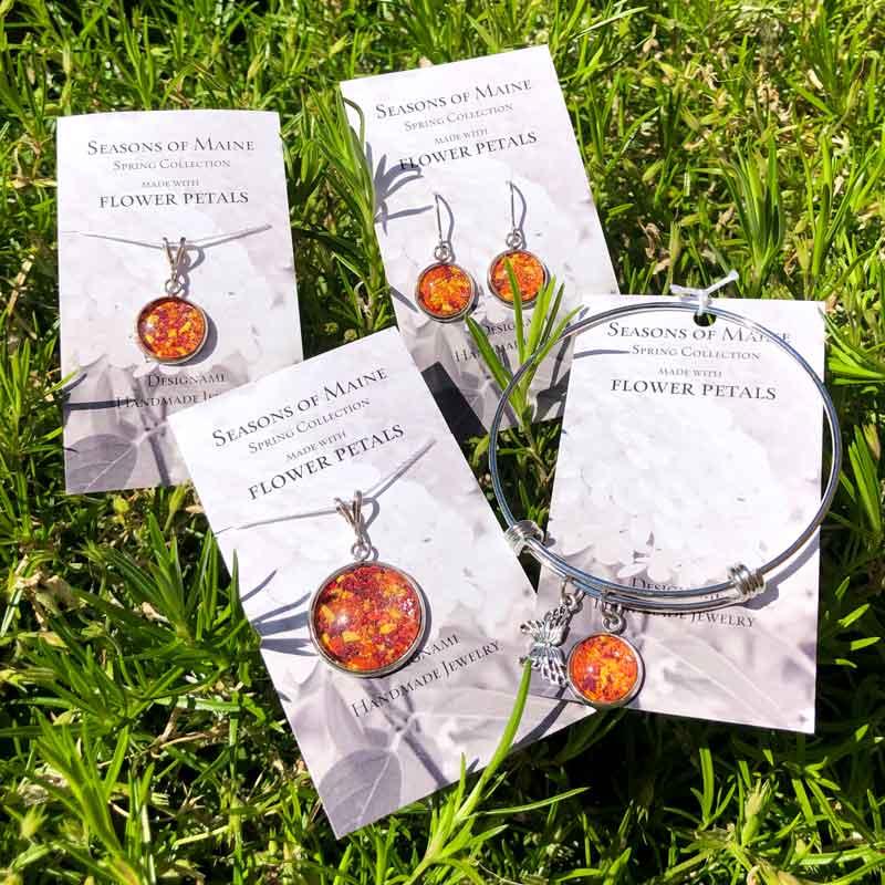 Rose, Lily & Daffodil Flower Petal Jewelry