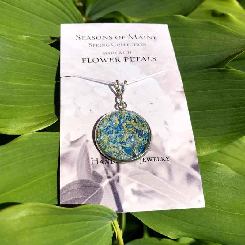 Pansy Flower Pendant