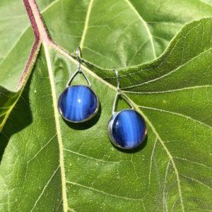 Starry Night Glass Earrings