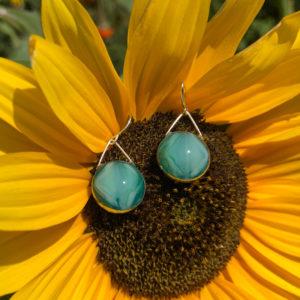 Ocean Glass Earrings