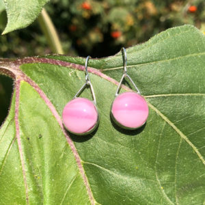 Amaranth Glass Earrings