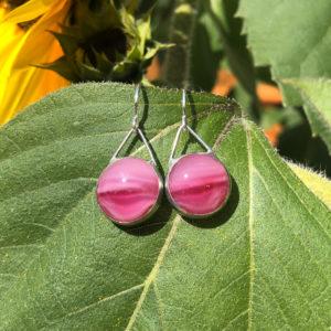 Cerise Glass Earrings