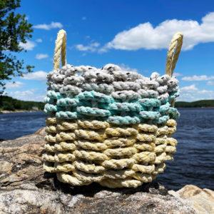 Mint Lemonade Lobster Rope Basket