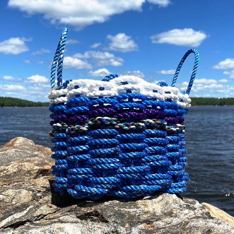 Ocean Waves Lobster Rope Basket