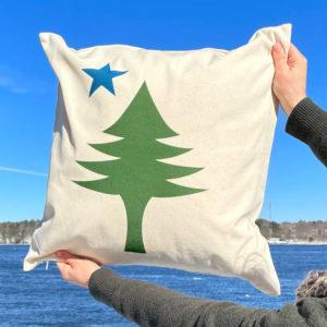 First Maine Flag Pillow