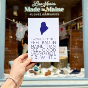 EB White Quote Mounted Art Print
